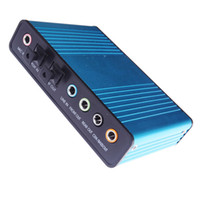 Wholesale Laptop Computer USB External Sound Card USB Channel Optical Fiber Audio Sound Card S PDIF Hot Sale