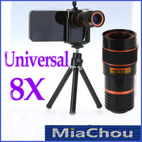 For Apple iPhone   8X Zoom Universal Telescope Long Focal Camera Lens for iPhone 4S iPhone 5 5S 6 Mobile Phone with Mini Tripod Holder