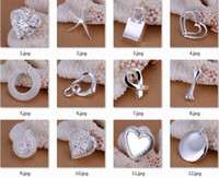 Wholesale Mix Styles Silver Charms Pendants Jewelry Sterling Silver Necklaces Pendants Charms High Quality Hot Sale