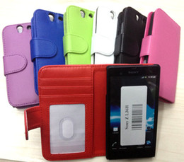 Wholesale Book Photo Frame Wallet Credit ID Card Horizontal Flip Leather Case Cover For Sony Xperia Z L36h For Xperia Z1 L39H