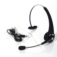 For PS3   Generic Earphone For Playstation 3 PS3 Bluetooth Wireless Headset w Microphone Black High Quality Free Shipping