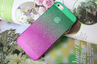 Wholesale Fresh Raindrop Gradient Phone Cases Back Cover Protect Case for iphone R28002