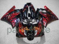 ABS Comression Mold For Honda blak red flames ABS Fairing for CBR600F2 91 92 93 94 Body Kit Fairing for Honda CBR600 CBR 600 F2 91 92 93 94 ABS Plastic Bodywork Set