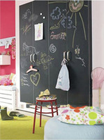 Wholesale Teaching blackboard stickers wallpaper chalkboard stickers send five chalk big size cm m