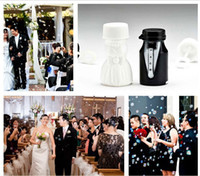 Wholesale Brand new Bride and Groom Wedding Bubble bottle mini soap water bottle for romantic wedding Decorations