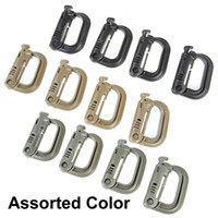 activities keychain - Multi use Hollow out D ring D Shape Plastic Buckle Clasp Keychain for Outdoor Activities Color Assorted