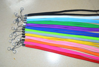 Wholesale Colorful Electronic Cigarette Lanyard Necklace String Neck Chain Sling Rope w Clip Ring for ego series Electronic Cigarette E Cigarette