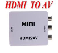 Wholesale HDMI input Digital to RCA Analog Audio Video Composite CVBS Output Converter AV