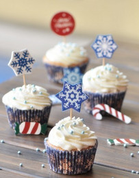Free shipping SNOWFLAKE cupcake paper wrapper, muffin cupcake cake decoration, cupcake toppers picks, for wedding and festival