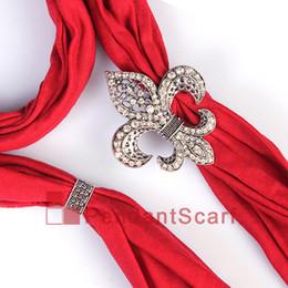 12PCS LOT Fashion DIY Jewellery Scarf Magnet Accessories Mental Alloy Rhinestone Fleur De Lis Magnetic Pendant, Free Shipping, AC0223