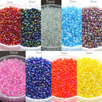 Wholesale 2mm g colors choice ashion Colourful Czech DIY Loose Spacer glass seed beads garment accessories amp jewelry findings