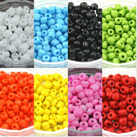 Wholesale 4mm g colors Choice Fashion Colourful Czech DIY Loose Spacer glass Seed beads garment accessories and jewelry findings
