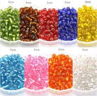 Wholesale 4mm g colors Choice Fashion Colourful DIY Loose Czech Spacer glass Seed beads garment accessories and jewelry findings