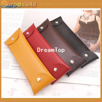 Pencil Bag pencil holder - CPAM PU Leather Retro Classic Pen Pencil Case Bag Stationery Holder Container Storage Pouch New H A