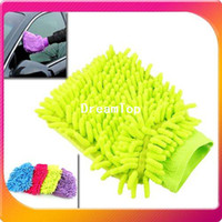 Cotton Bathroom Guangdong China (Mainland) Free shipping & 10 pcs lot New Multifunction Microfibre Car Cleaning Cleaner Glove Cleaning Towel Wipe Rag