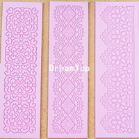 Wholesale L010 pc set instant lace molds cake molds silicone baking tools kitchen accessories decorations for cakes Fondant