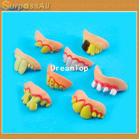 Wholesale Dorpshopping X Funny Goofy Fake Rotten Teeth Tooth Rubber Dentures Good for Costume Parties Gags