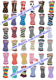 Wholesale New Chevron Baby Leg Warmer Children Skull Leg Warmers Christmas infant leggings Tights Halloween Pumpkin Adult Arm warmers Pc Pairs