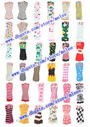 Wholesale New Baby Christmas Legging Warmer CHEVRON ZIG ZAG Leggings Leggies Skull Leg Warmer Socks adult arm warmers colors for choose Pair