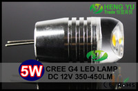 Wholesale New concept CE ROHS CREE G4 W LED Bulb Lamp Warm Cool White DC12V Non polar Lens High Power Chandelier Crystallight