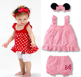 Wholesale New style cute three piece pc color sets headband coat shorts