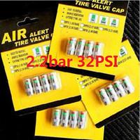 Chromed brass air pressure sensor - bar PSI Car Auto Tire Air Pressure Valve Stem Caps Sensor Indicator Alert packs
