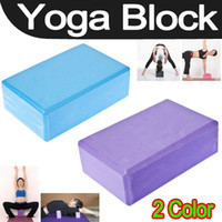 Wholesale Best Yoga Block brick Foaming Foam Home Exercise practice Fitness Tool Sport EMS Shipping