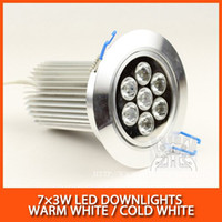 Wholesale LED Downlights W W Epistar mil lm AC85 V Warm white cold white DHL
