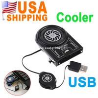 Wholesale US Stock To USA CA Mini Vacuum USB Air Extracting Cooling Fan Cooler for Notebook Laptop UPS Free drop