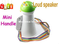 Wholesale Lovely Mini Portable Handheld Amplifier Megaphone Bullhorn Loud speaker with handle free drop drop