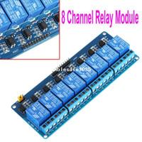 al por mayor retransmitir activa baja-Nueva 5V Activo bajo 8 Junta Módulo de relé de canal para Arduino PIC AVR ARM MCU DSP caída libre al por mayor