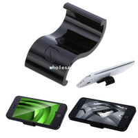 Wholesale Cheap Universal Mobile Phone Cell phone Display Stand Holr for iPhone Samsung HTC MP4 MP5 Black White free drop