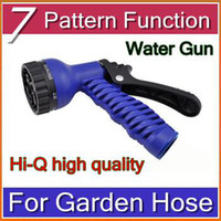 Wholesale DHL Pattern Function Water Gun Water Spray Nozzle Sprayers For Expandable Garden Hose HBA B