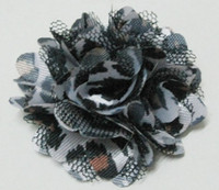 Wholesale 500Pcs Gauze Leopard Handmade Fabric Flowers Leopards Brooch Children s Boutonniere Corsage Wedding Headdress Flower