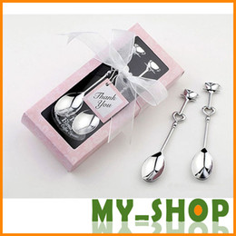 Wholesale Coffee Spoon Heart Shaped Love Coffee Tea Measuring Spoon Wedding Lover Favors Stainless Steel Dinner Tableware Set JJ0127