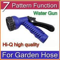 Wholesale DHL Best Selling Water Gun Water Spray Nozzle Sprayers and Nozzles for Expandable Garden Hose Pattern Function HBA B