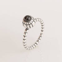 Silver Ring 925 Silver 925 silver ring with black stone made of 925 sterling silver rings for pretty girl gifts wholesale price hot sale item free shipping RIP025C