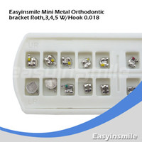 Yes Yes  Free shipping 5 Packs Dental Products Roth Metal Mini Orthodontic Bracket Braces 3,4,5 with Hook 0.018