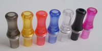 Wholesale Ce5 Drip Tip Green - Clear Transparent Mouth Drip Tips Mouthpiece Electronic Cigarette Clearomizer Atomizer Accessories for Ego Serise CE4 CE4+ CE5 CE5+ CE6