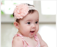Wholesale headband Baby Headbands MOQ Korean Hair bands Hair accessories Roses with Princess flower head pink