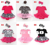 O-Neck Striped T101 wholesale girl baby set dress romper+headbands voile dress baby girl clothing baby cloth
