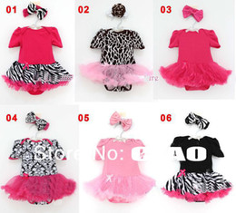 Wholesale girl baby set dress romper headbands voile dress baby girl clothing baby cloth