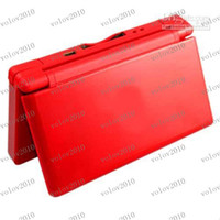 3 inch wholesale ds games - LLFA1550 Christmas gift Ice Blue NDS Lite game consoles for GBA games ds game card Free