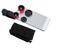 Wholesale Universal in Clip On Fish Eye Lens Wide Angle Macro Lens for iphone S G S3 i9300 with Retail Package