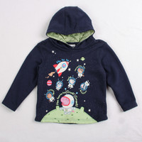 Wholesale Christmas Navy Nova kids wear autumn winter y y Children Boys Hooded Hoodies hot astronaut Peppa Pig printed sweatshirts