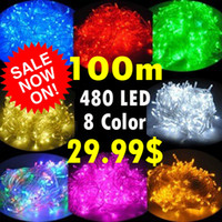 Wholesale 100m leds one piece christmas party lights fairy string colorful led lights for car tree home decoration