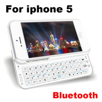 Wholesale Mini Ultra Thin Slider QWERTY Wireless Bluetooth Keyboard Sliding Stand Hard Case Cover iphone G