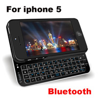 Wholesale White Black Ultra Thin Slider QWERTY Wireless Bluetooth Keyboard Sliding Stand Case Cover iphone G