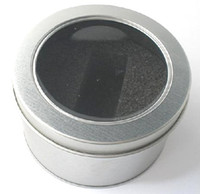 Wholesale 5PCS Round USB box with window Metal packaging Transparent gift box D65 x H40 MM D2 xH1 inch