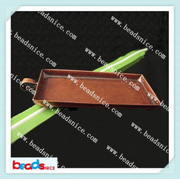 Beadsnice ID6855 fashion jewelry pendants of findings for jewelry making diy accessories 25x50mm pendant settings wholesale